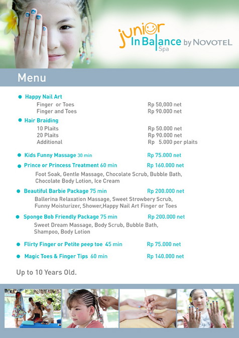 Junior InBalance Menu